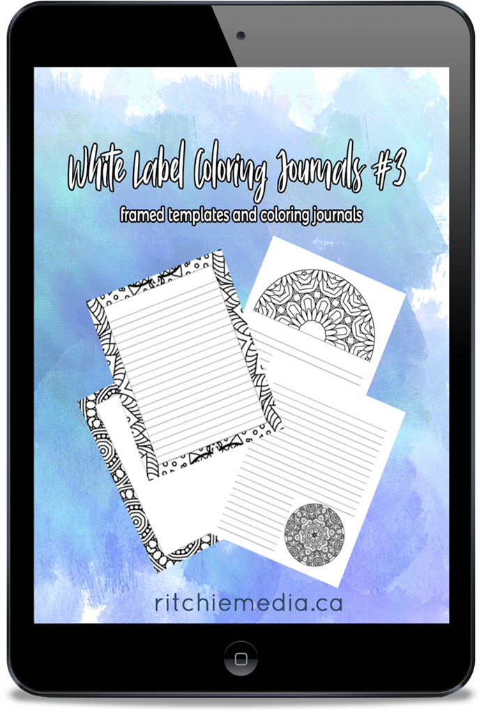 coloring journal templates volume 3