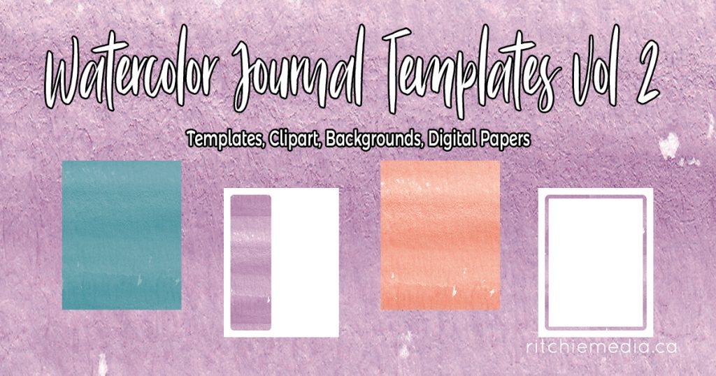 Watercolor Journal Templates Vol2