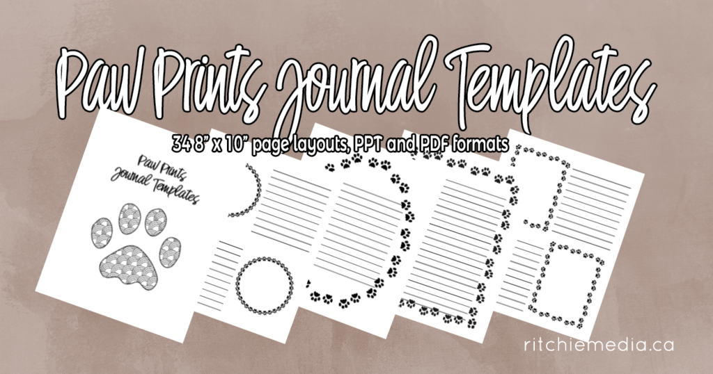 paw prints journal templates