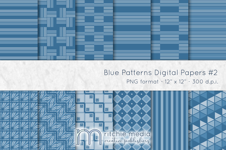 blue digital papers 2 mockup