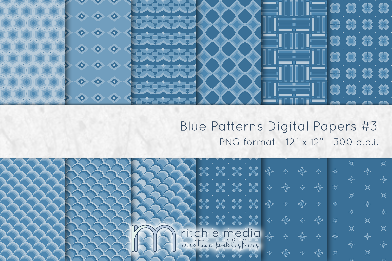 blue digital papers 3 mockup