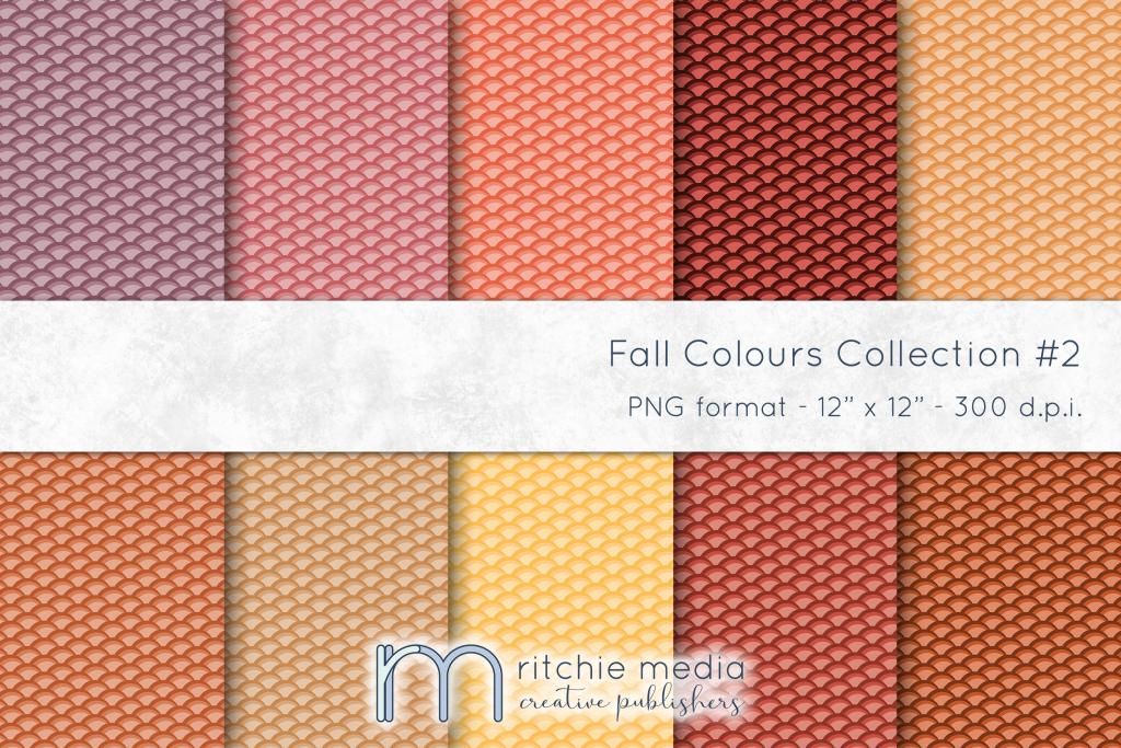 fall colors digital papers 2 mockup