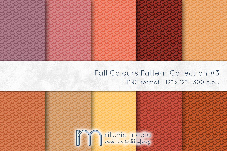 fall colors digital papers 3 mockup
