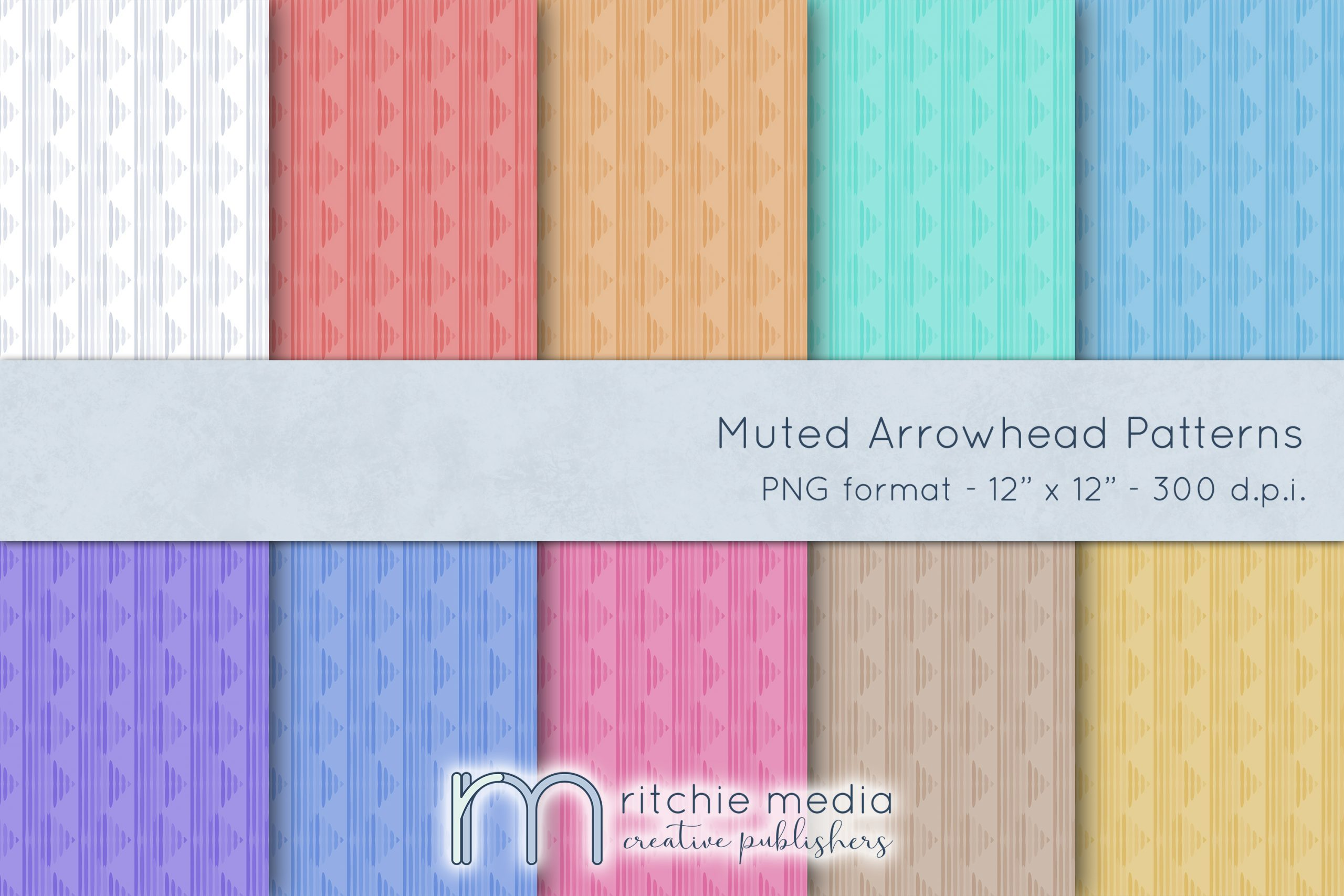 muted arrowhead digital papers