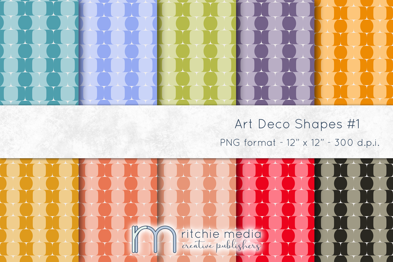 Art Deco Digital Papers Mockup