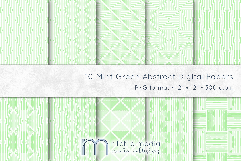 Mint Green Digital Papers Mockup