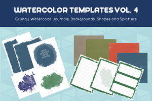 watercolor journals and templates vol 4