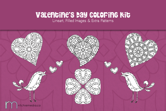 Valentine's Day Coloring Kit Image