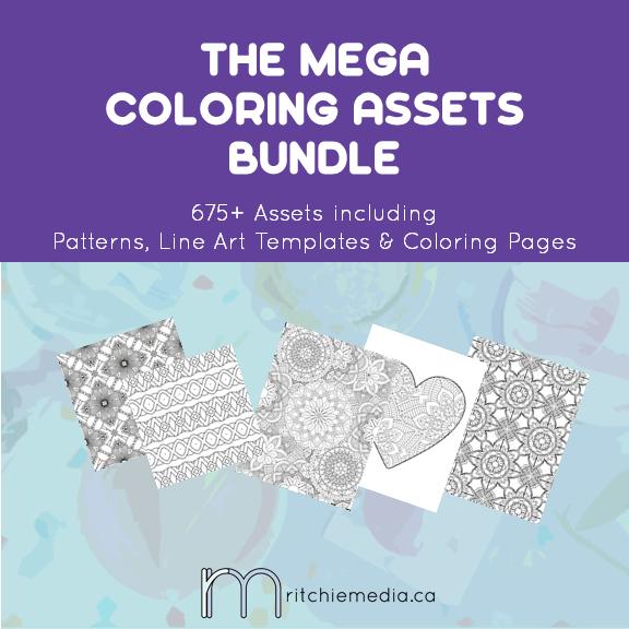 mega coloring assets bundle