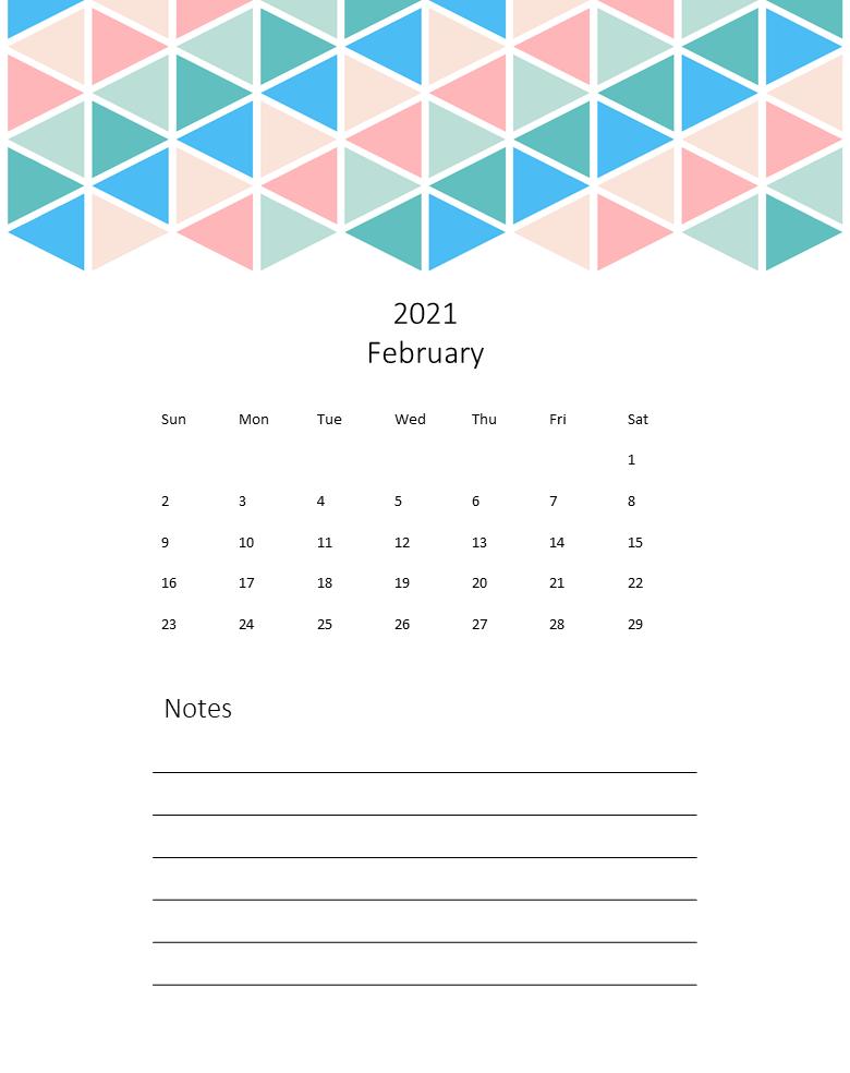 printable calendar page