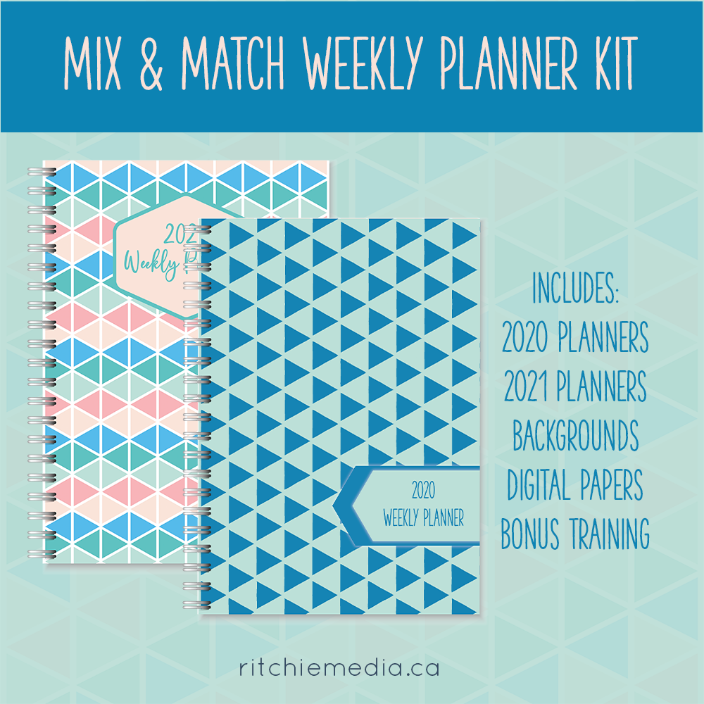 mix and match weekly planner kit