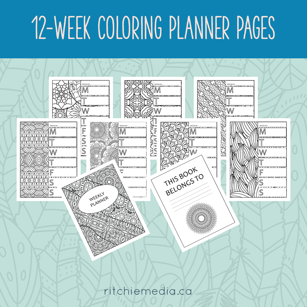weekly coloring planner preview