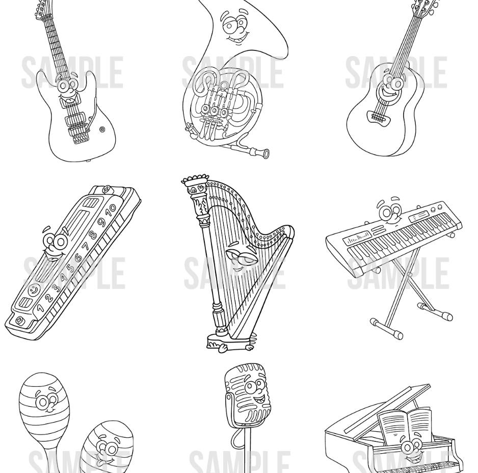 musical instruments sample