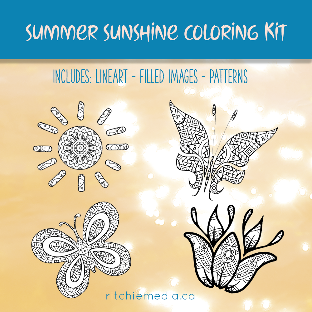 summer sunshine coloring kit