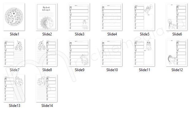 preview of bonus coloring planner