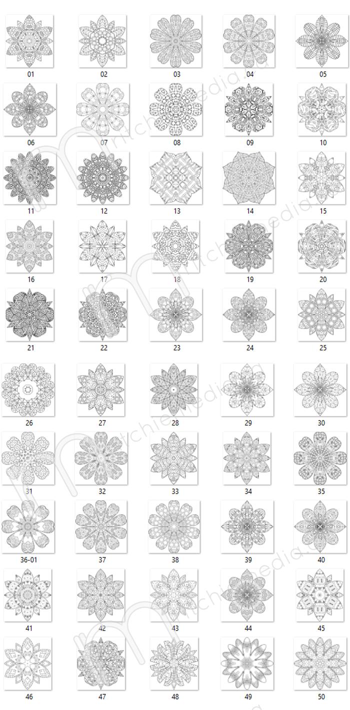 preview of floral mandalas