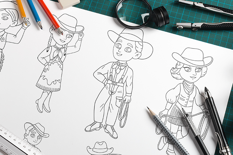 rodeo coloring pages promo
