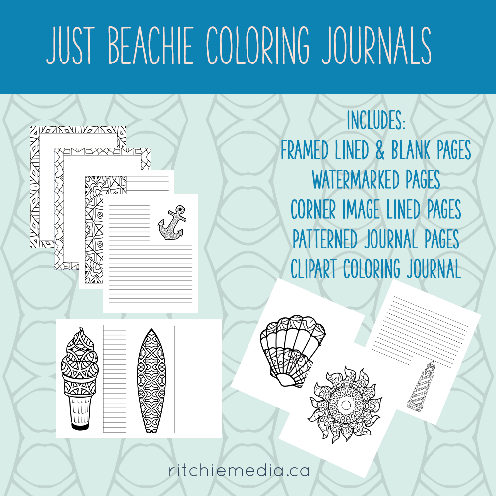 just beachie coloring journals