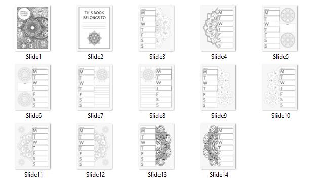 Preview of Mandala Coloring Planner