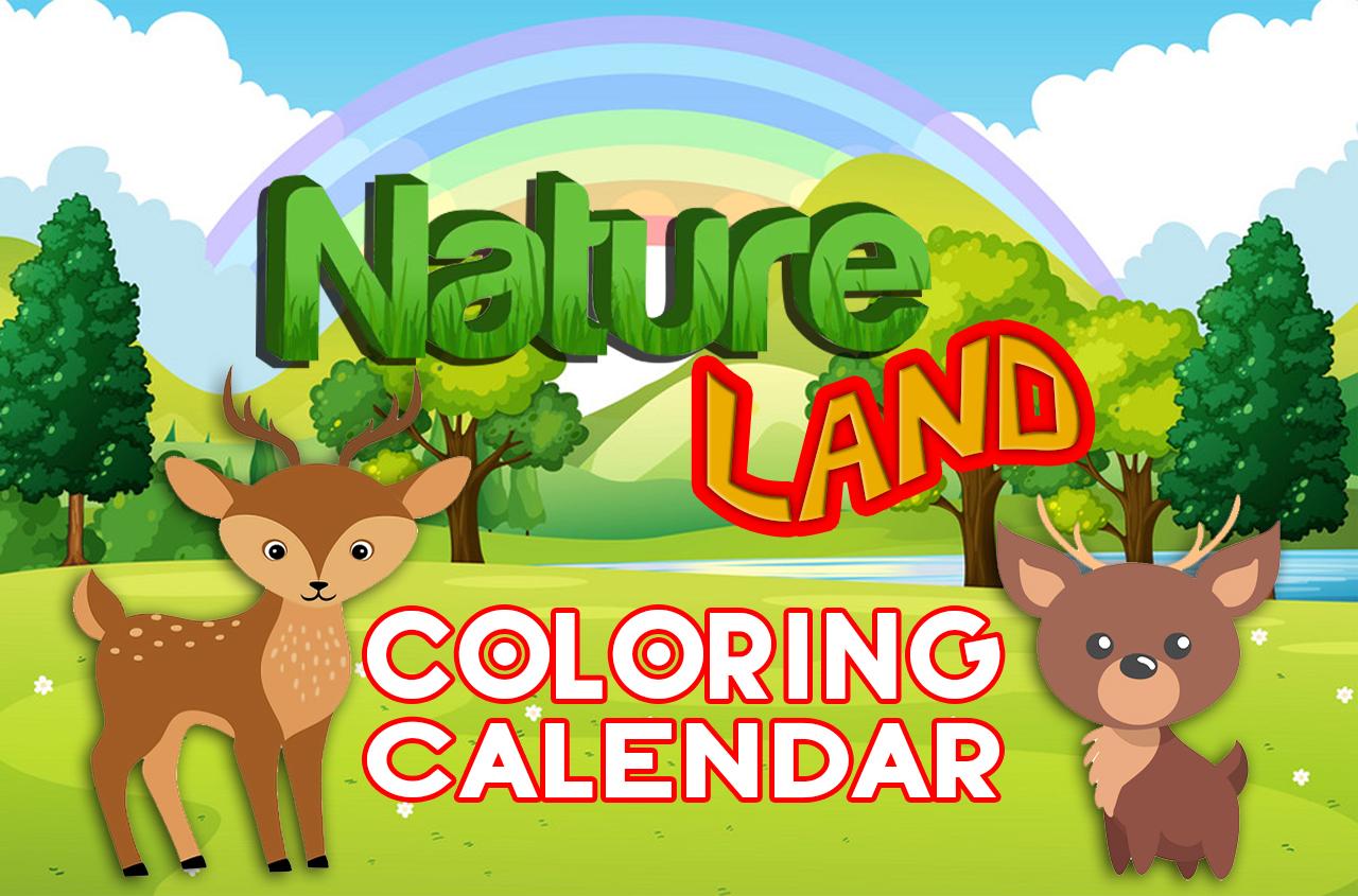 natureland coloring calendar