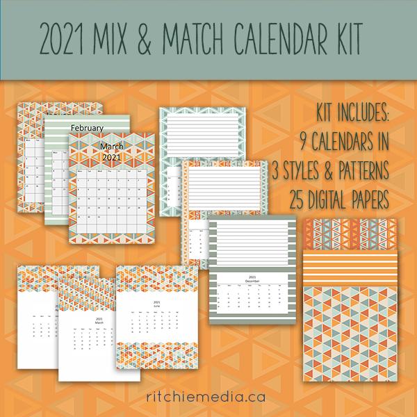 mix and match calendar kit 2021