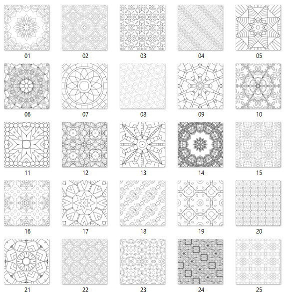 preview patterns 1-25