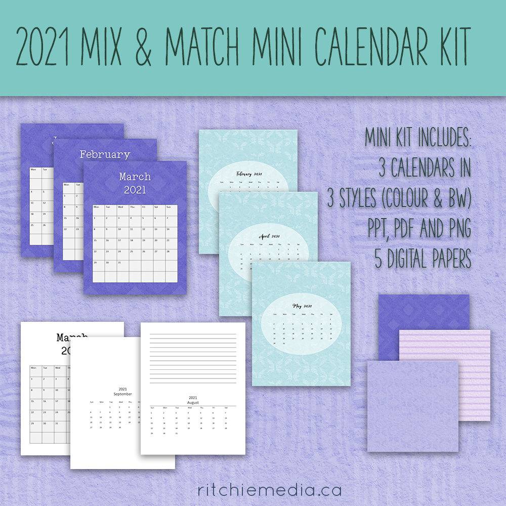 mini mix and match calendar kit 1