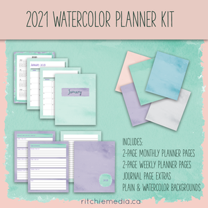 2021 Watercolor Planner Kit