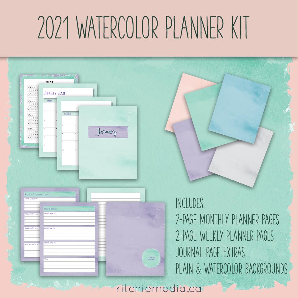 2021 Watercolor Planner Kit