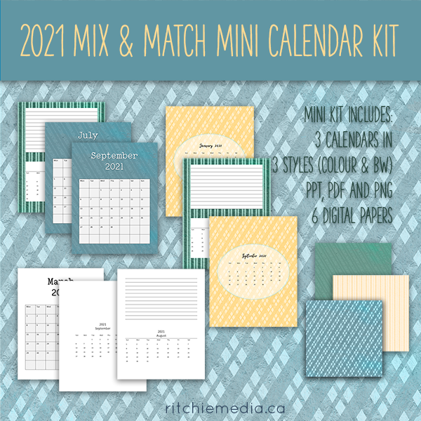 Mini Mix and Match Calendar Kit 2