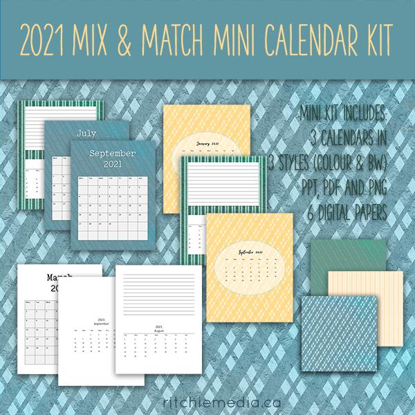 Mini Mix and Match Calendar Kit 2