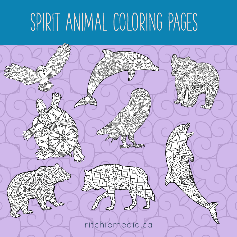 spirit animals coloring pages promo