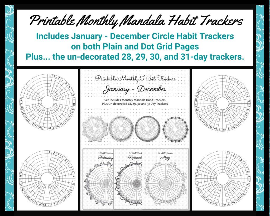 mandala habit trackers