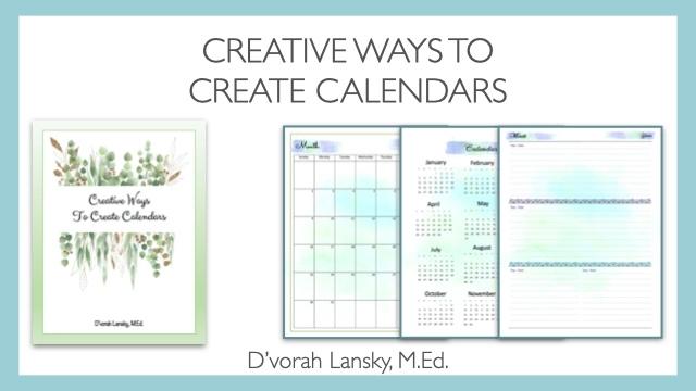 creative calendars course