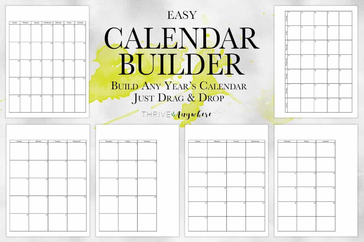 Easy Calendar Builder