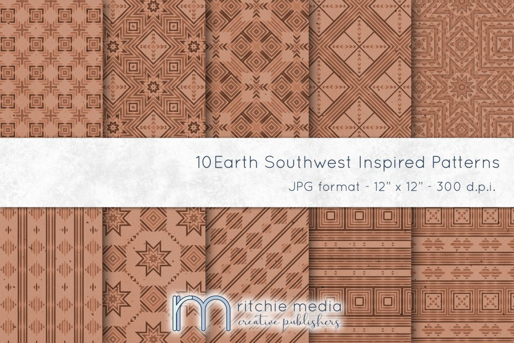 earth tone digital papers