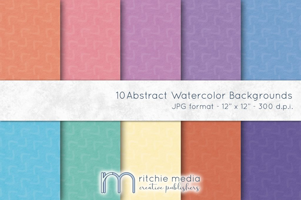 abstract watercolor digital papers