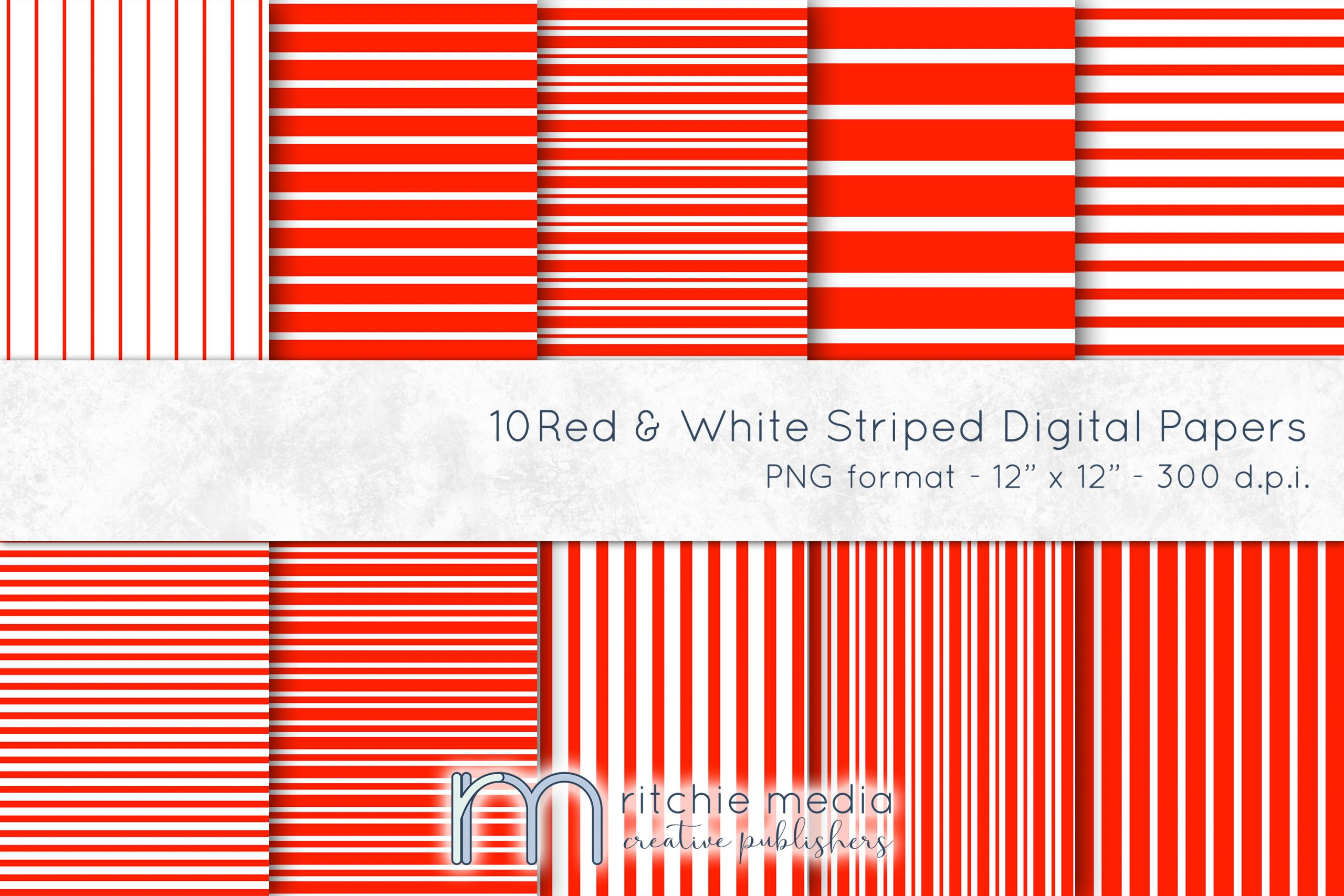 red and white striped digital papers