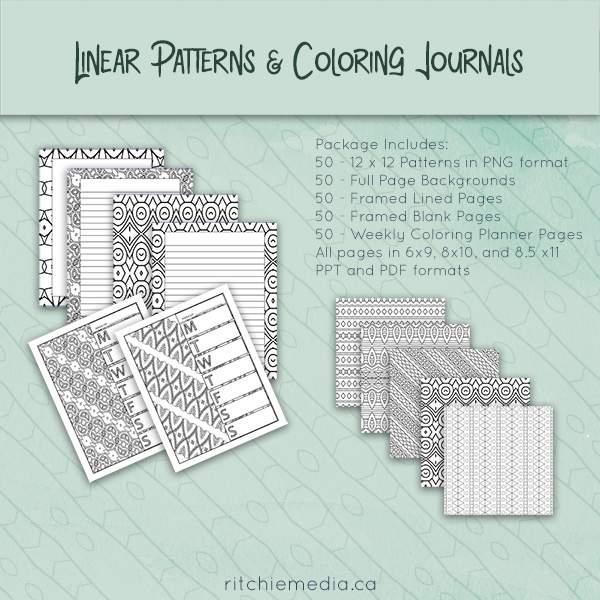 linear patterns and coloring journals