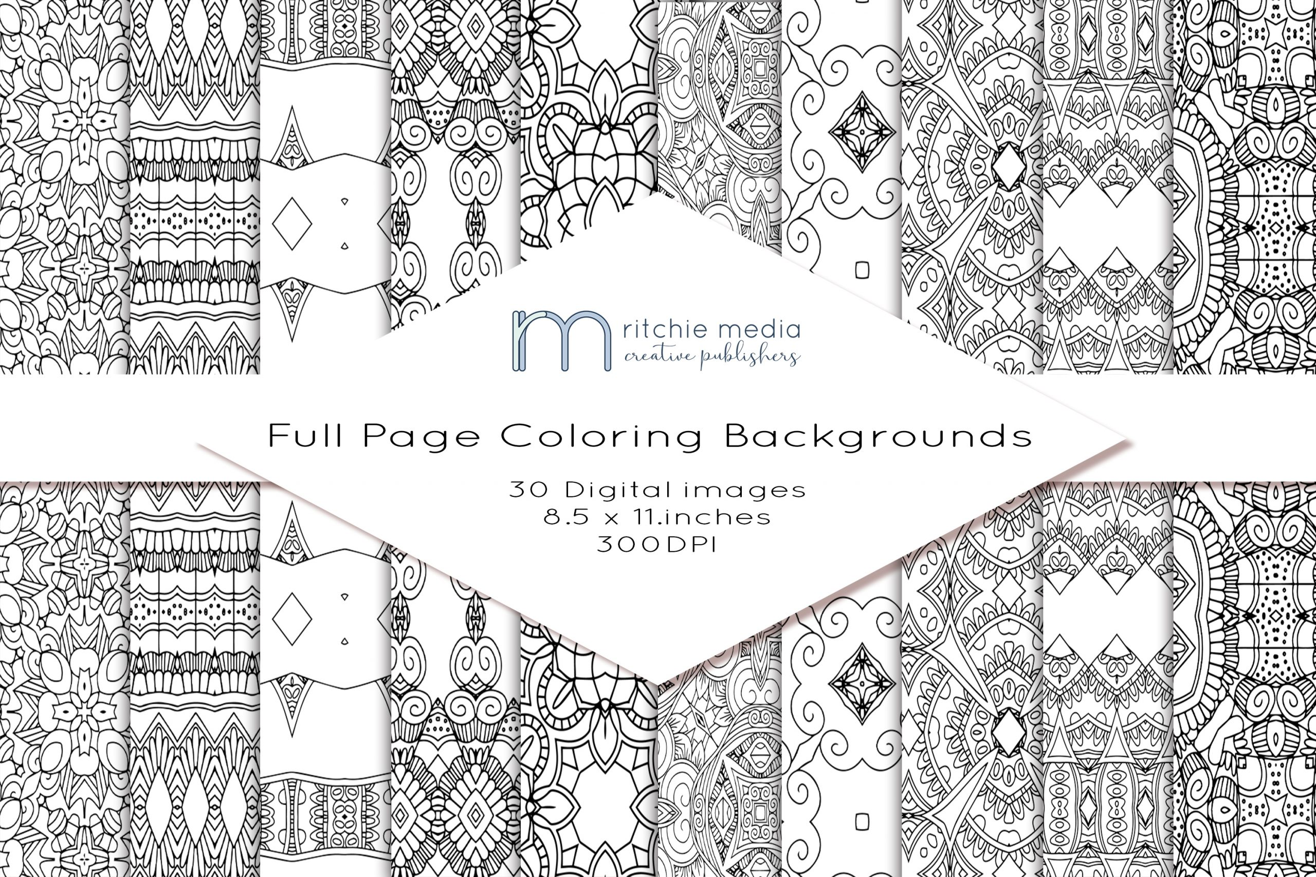 30 coloring pages mockup