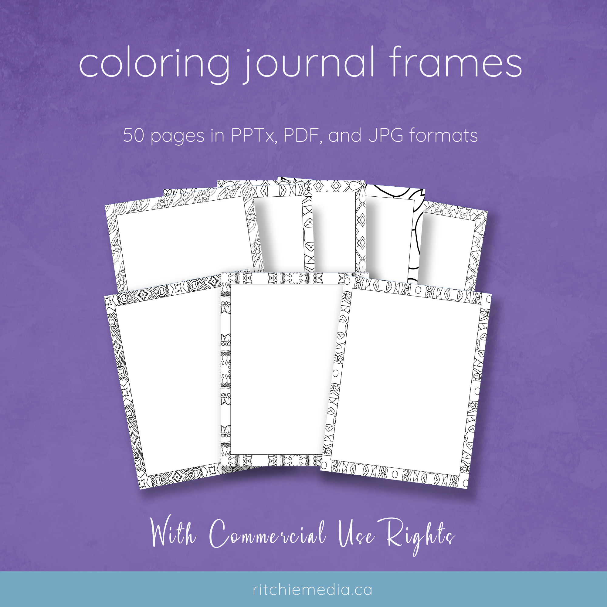 coloring journal pages mockup