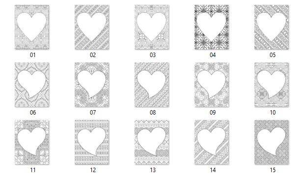 heart framed pages