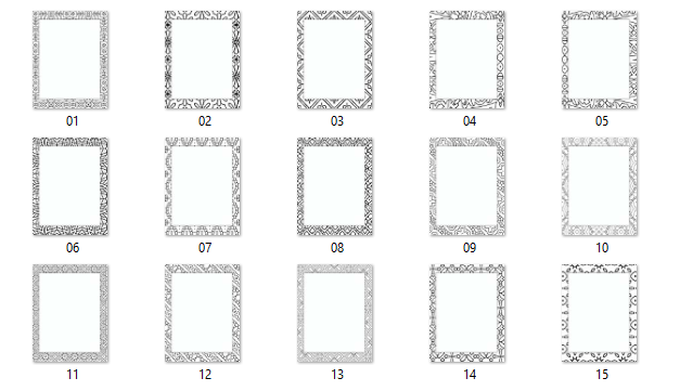 rectangle framed pages preview