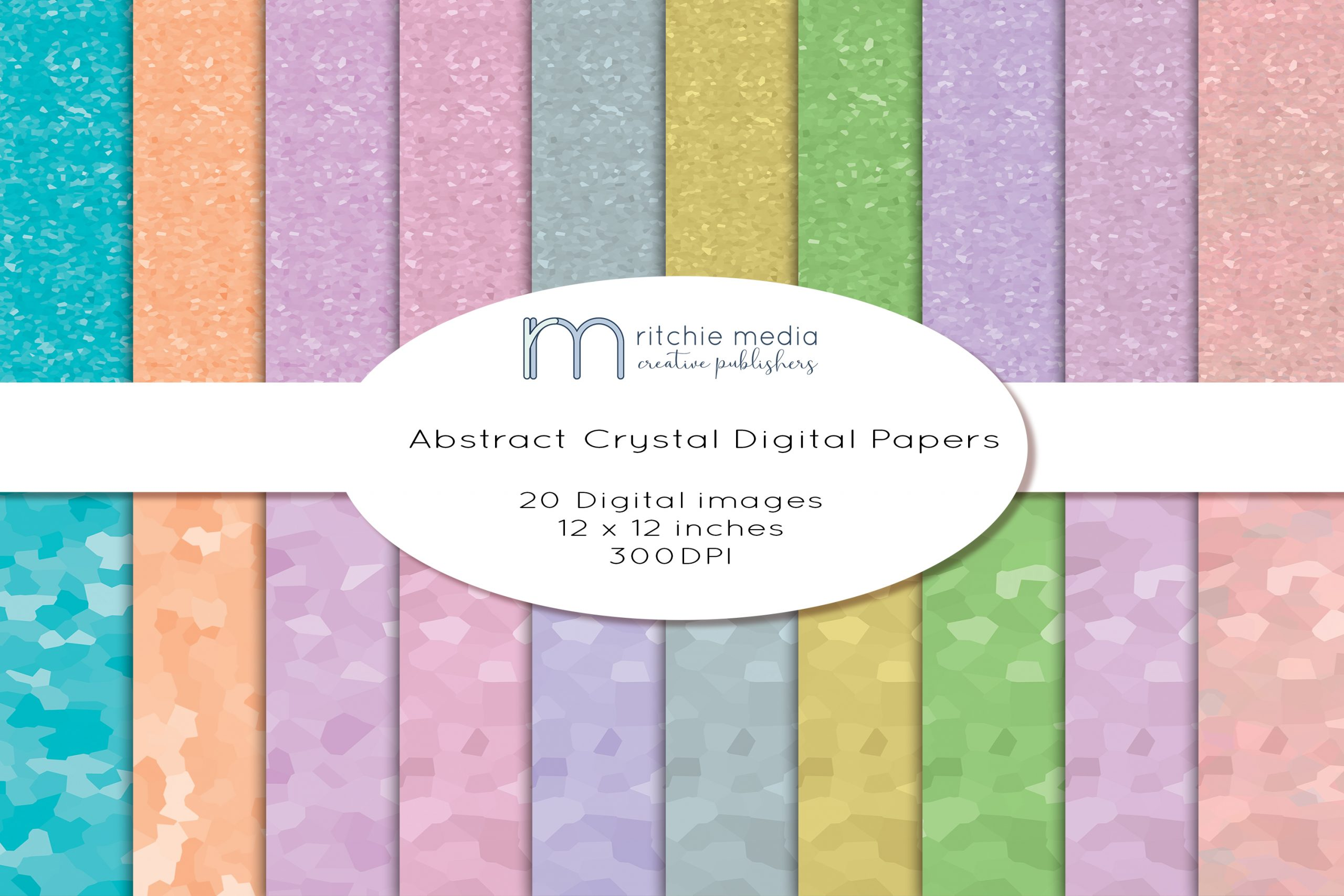 20 Abstract Digital Papers Mockup