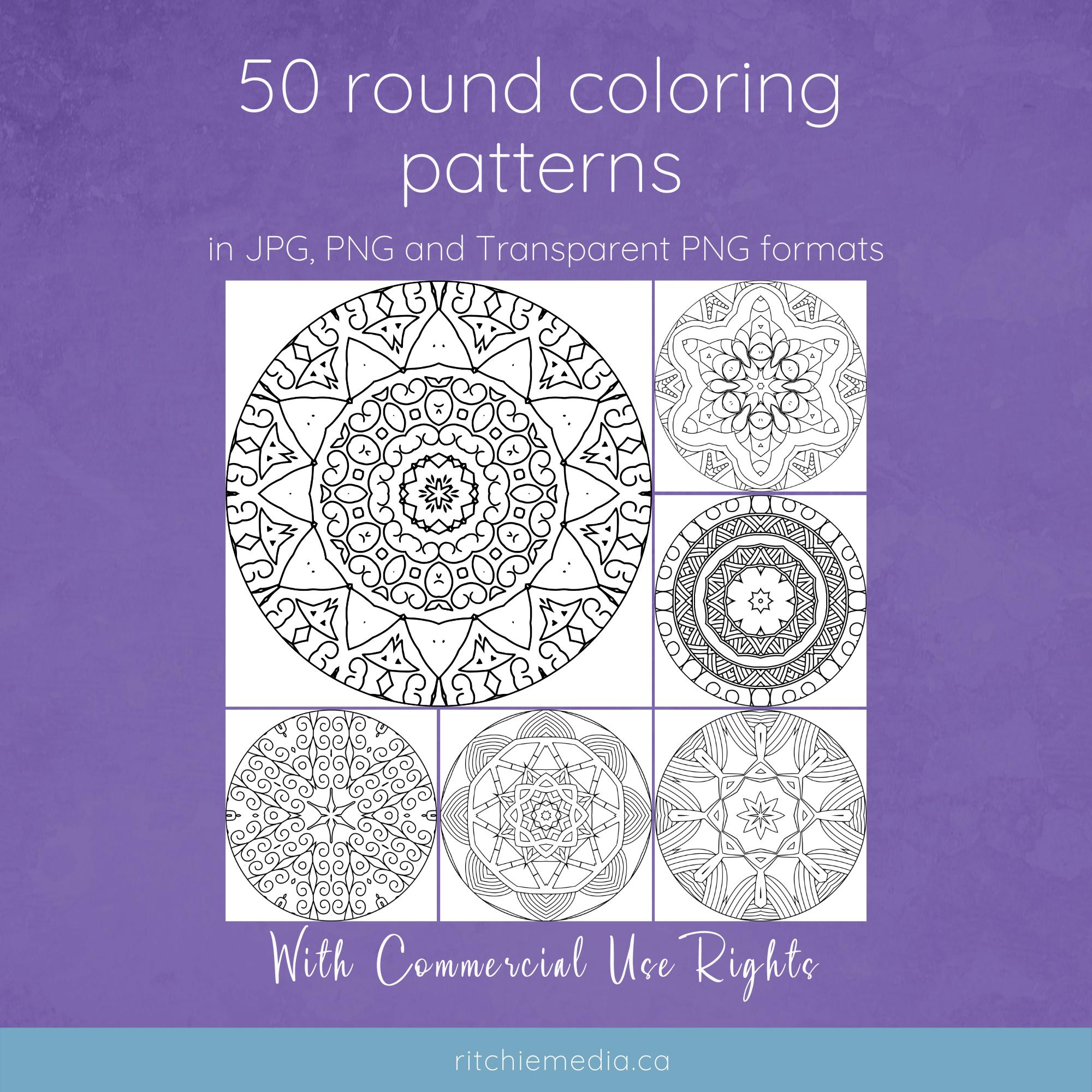 50 round patterns vol 1 mockup