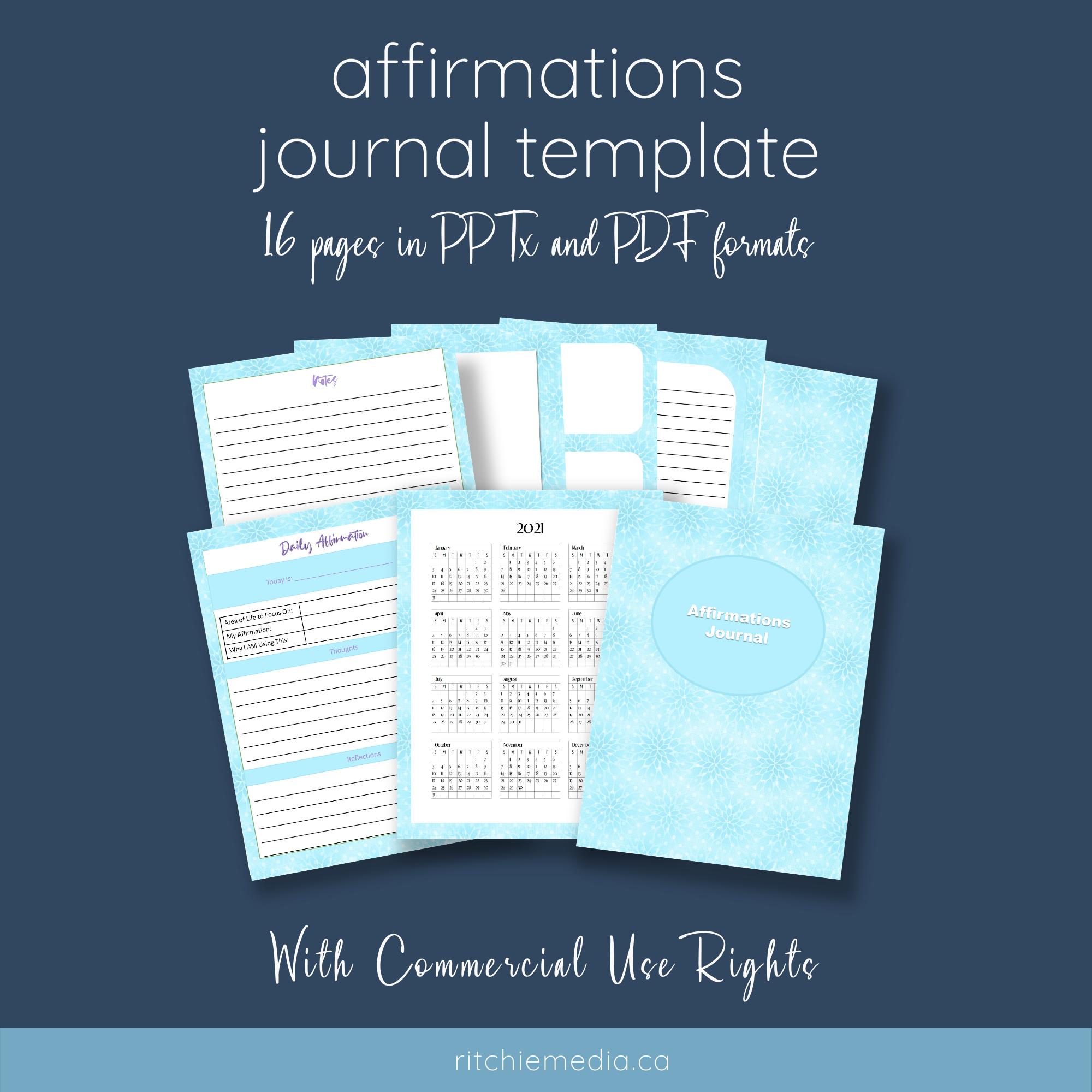 Affirmations Journal Mockup