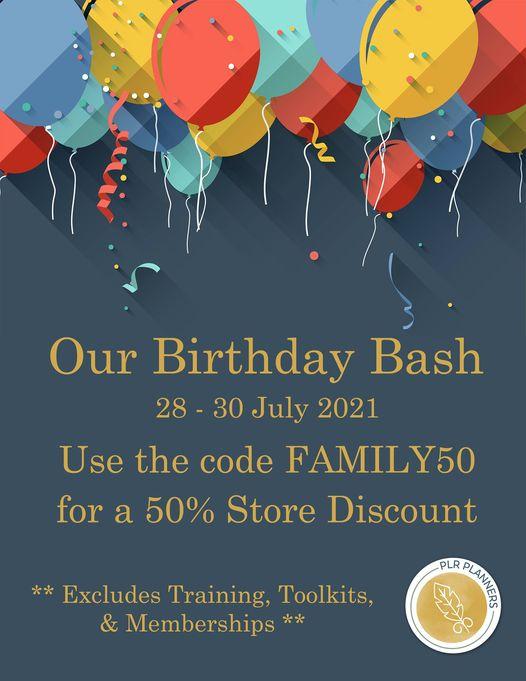 PLR Planners Birthday Bash