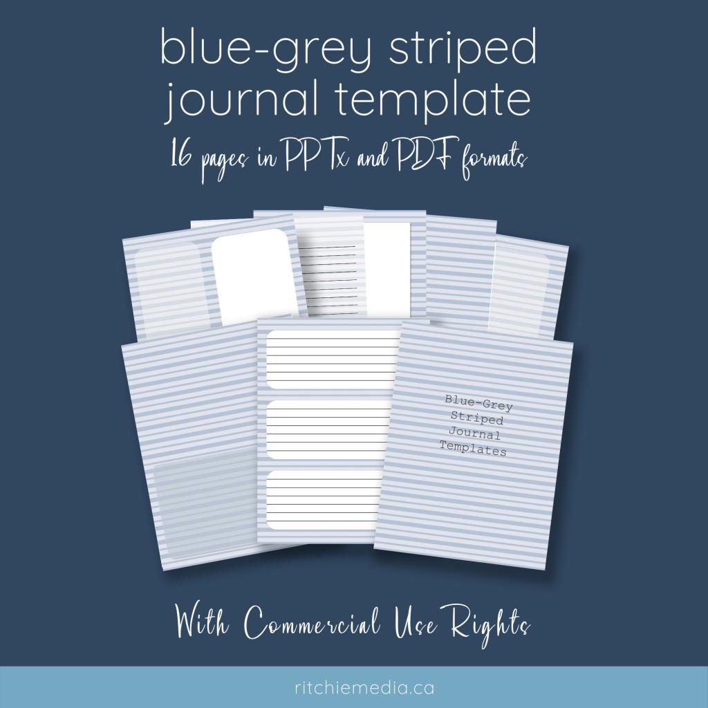 blue grey striped mockup