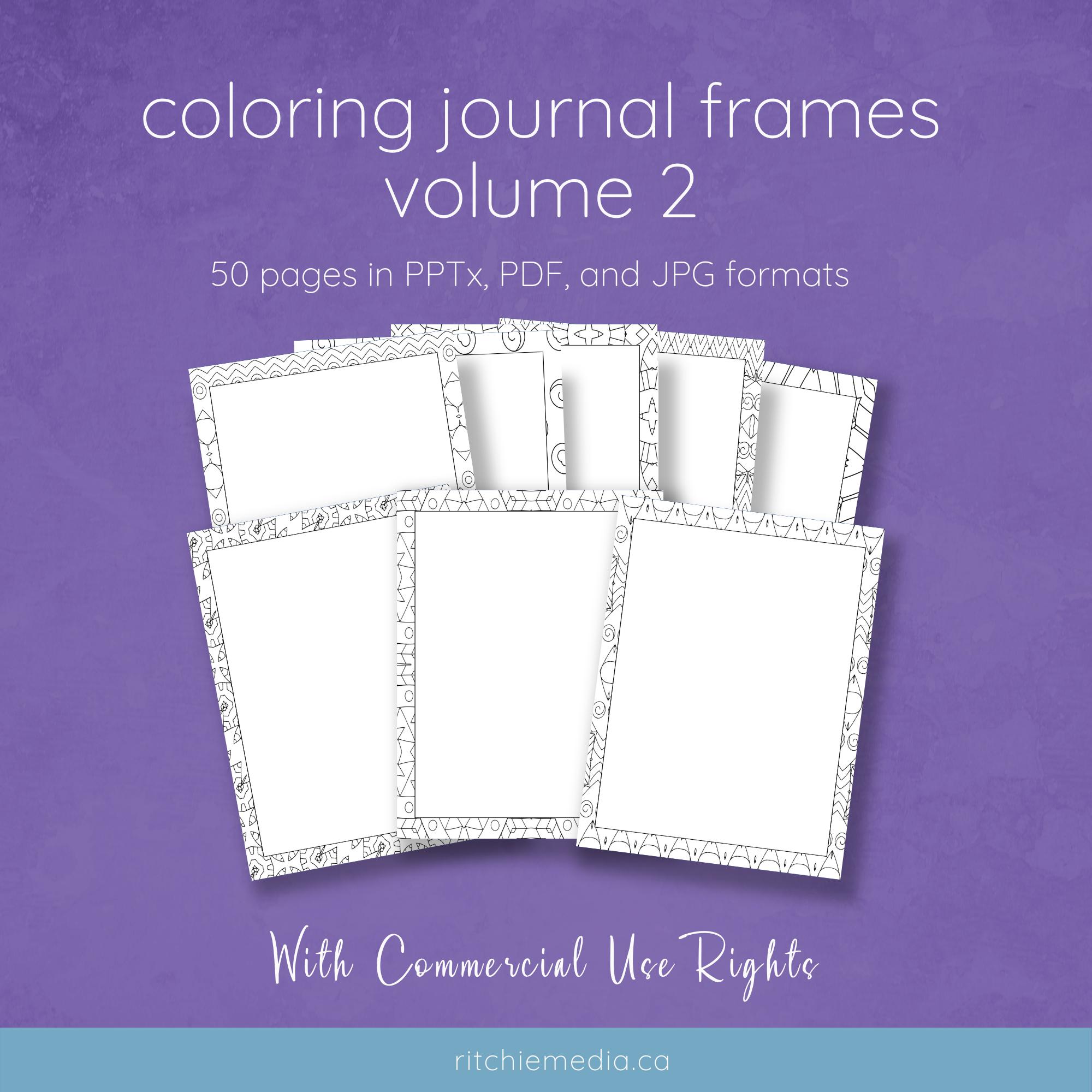 coloring journals vol 2 mockup