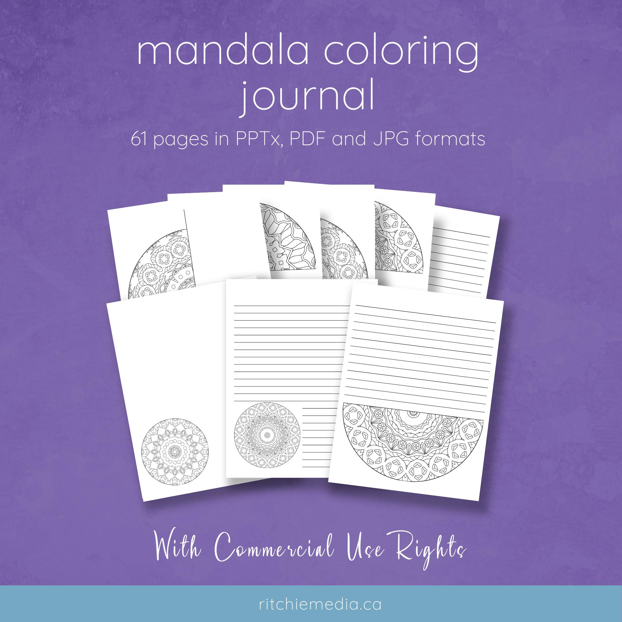 mandala coloring journal mockup